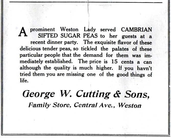 Cuttings Store advertisement