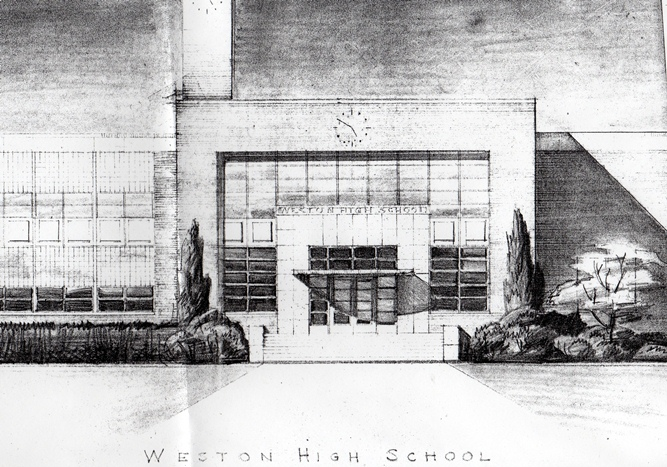 Architectural rendering of Weston High School