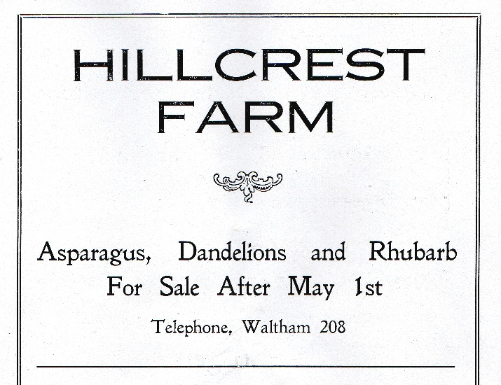 Hillcrest Farm advertisement
