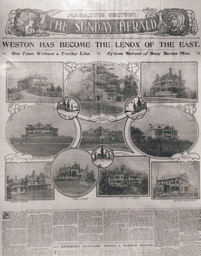 1902 newspaper article about Weston