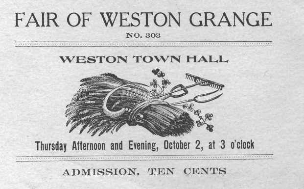 Advertisement for Weston Grange Fair