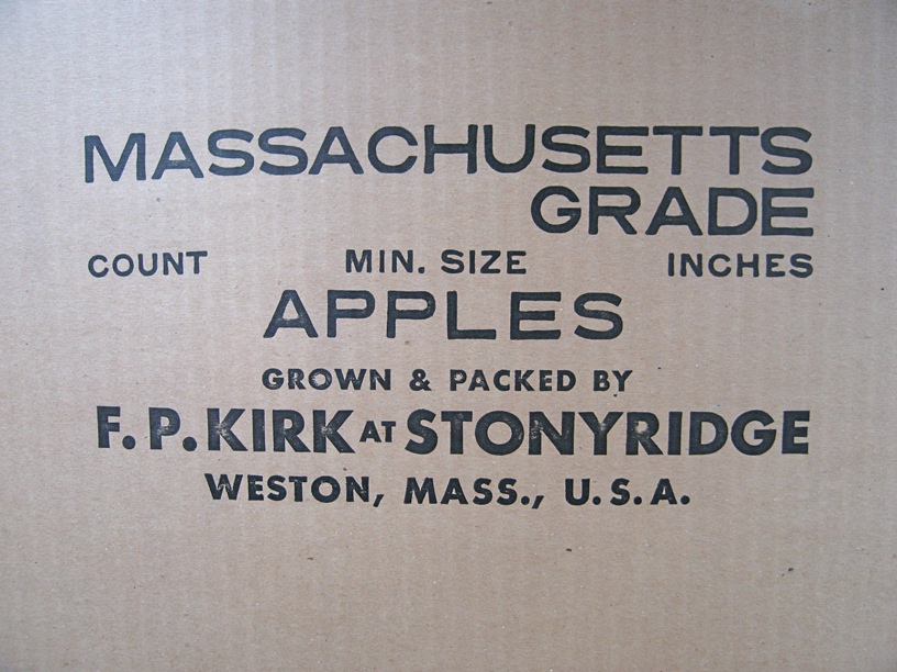 Panel from an apple shipping carton