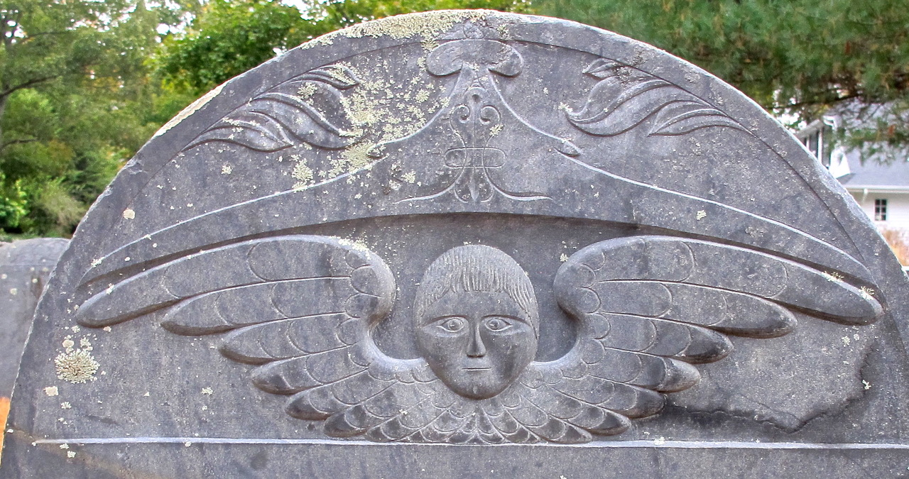 detail of old headstone